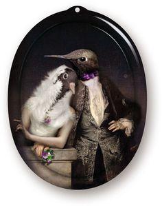 Envilu - The Lovebirds Wall Art / Tray - Le Boudoir by ibride, $66.50 (https://www.envilu.com/the-lovebirds-wall-art-tray-le-boudoir-by-ibride/)