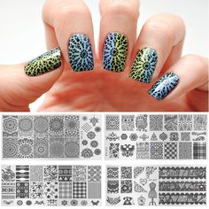 Wholesale Kaleidoscope Nail Art Metal Plate Image Stamping Plates DIY Manicure Printing Template Plate Tool XYJ Styles