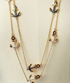 anchor necklace...love the nautical jewelry theme!