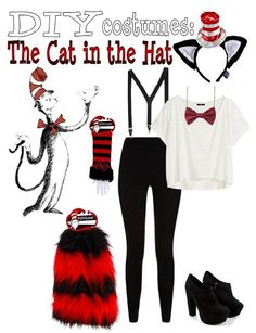 DIY Cat in the Hat Outfit