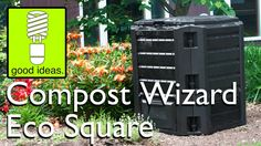The Compost Wizard Eco Square is a 100 gallon compost bin that's perfect for the first time composter or anyone who just wants a simple bin that works. Composters, Projects, Log Projects, Compost