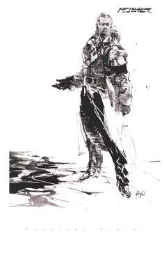 Character Sketches for Metal Gear Solid (1998) by Yoji Shinkawa