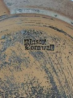 Clive Blackmore Rinsey Cornwall - cross mark stamp