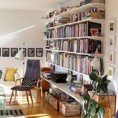 Stunning Library Room Design Ideas W. - Stunning Library Room Design Ideas With Eclectic Decor - Easy Home Decor, Home Decor Styles, Cheap Home Decor, Home Library Design, House Design, Library Room, Eclectic Decor, Home And Living, Living Rooms