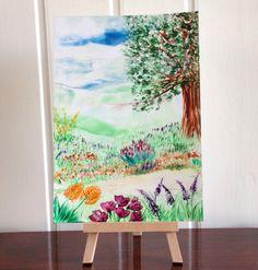 Garden Path Landscape Original Painting £15.00