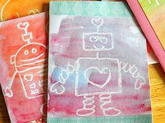 Invitaciones de cumpleaños hechas con ceras y acuarelas - Invitaciones para cumpleaños y fiestas infantiles - Fiestas de cumple para niños – Regalos originales para bebés - Charhadas.com
