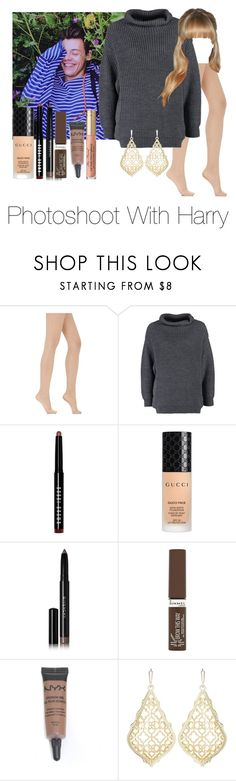 """""""Photoshoot With Harry Styles"""" by jenadamss ❤ liked on Polyvore featuring Wolford, GUESS by Marciano, Bobbi Brown Cosmetics, Gucci, Givenchy, Rimmel, NYX and Kendra Scott"""
