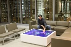 This amazing interactive multi-touch table is brought to you by Horizon Display for Cataraman Rx