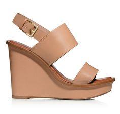 The Nude Shoe: Tory Burch Lexington Wedge Sandal