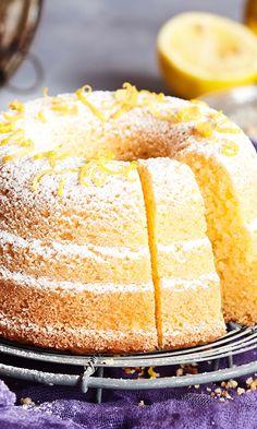 Sitruunakakku | Maku Finnish Recipes, Sweet Bakery, Sweet Pastries, Little Cakes, Biscuit Cookies, Coffee Cake, Yummy Cakes, No Bake Cake, Cupcake Cakes