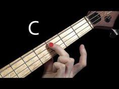 Learn Bass Guitar - Scales & Chord Tones - part 1 Bass Guitar Scales, Bass Guitar Notes, Learn Bass Guitar, Bass Ukulele, Guitar Tips, Guitar Pedals, Bass Guitars, Acoustic Guitar Chords, Guitar Chords Beginner