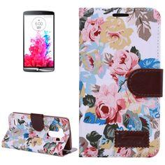 LG Optimus G3 horizonale Flip cover, case, hoesje Flowers