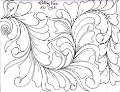 I have been working in my sketchbook in the evenings. Drawing wild vines has been FUN for me. I like to draw out a spine line in pen. Quilting Thread, Longarm Quilting, Free Motion Quilting, Machine Quilting, Denim Quilt Patterns, Quilting Patterns, Quilting Ideas, Walking Foot Quilting, Whole Cloth Quilts