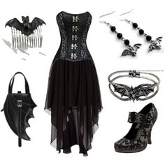 Batty by theeverydaygoth on Polyvore featuring Rock Rebel and Demonia
