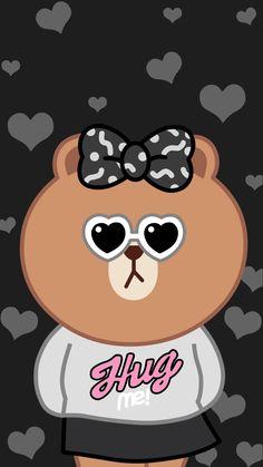 Rilakkuma Wallpaper, Kawaii Wallpaper, Cellphone Wallpaper, Iphone Wallpaper, Cute Backgrounds, Phone Backgrounds, Lines Wallpaper, Girly Drawings, Brown Line