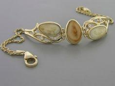 Elk Ivory Bracelet 14K Yellow Gold