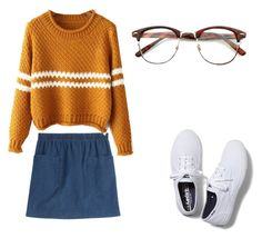 """Untitled #66"" by olilandy on Polyvore featuring A.P.C. and Keds"