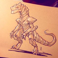Armored Dino commission for @caninehybrid, check out her creature costumes, they're so rad!