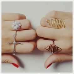 need to have my sister make me some rings like the ones on the right :)