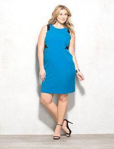 51be0b5927f Brand Designer  Dress Barn Dress Silhouette  Sheath Embellishments   Colorblocking Size Category  Plus Size Available Colors  Surf Spray