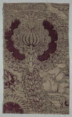 Velvet Fragment, 1400s Italy, 15th century velvet, Overall - h:58.50 w:35.00 cm (h:23 w:13 3/4 inches). Dudley P. Allen Fund 1918.272