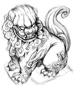 japanese tattoos meaning Dog Tattoos, Body Art Tattoos, Sleeve Tattoos, Tattoo Sketches, Tattoo Drawings, Kunst Tattoos, Irezumi Tattoos, Fu Dog, Japan Tattoo