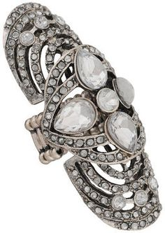 ShopStyle: Forever 21 Bejeweled Knuckle Ring