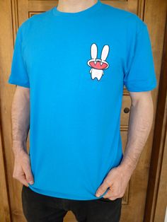 Bunny Tshirt (available in mens and womens sizes). $25.00, via Etsy.