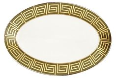 Mythologie Greek Key Oval Platter on OneKingsLane.com