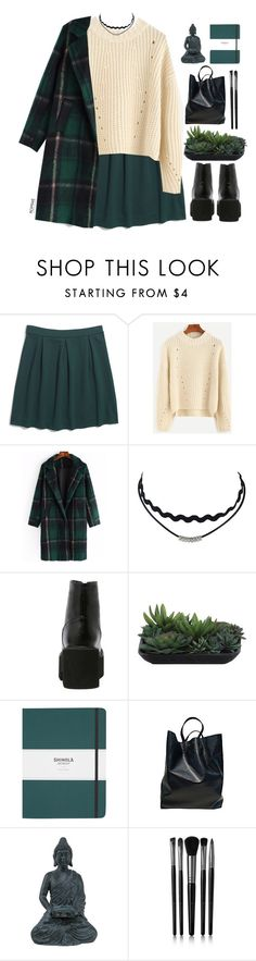 """#ROMWE"" by credentovideos ❤ liked on Polyvore featuring Madewell, Lux-Art Silks, Shinola, CÉLINE, Threshold and Illamasqua"