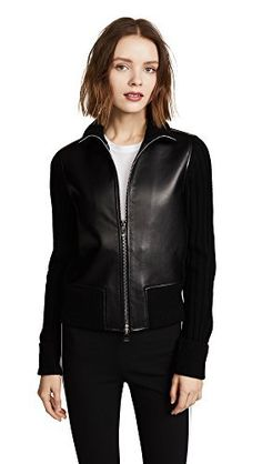 """A wilmore bonded leather jacket with sweater rib knit combo       Famous Words of Inspiration...""""Always have a book at hand, in the parlor, on the table, for the family; a book of condensed thought and striking anecdote, of sound maxims and truthful apothegms. It will...  More details at https://jackets-lovers.bestselleroutlets.com/ladies-coats-jackets-vests/casual-jackets/product-review-for-theory-womens-bonded-lthr-rib-jkt/"""