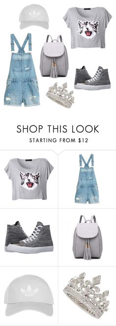 """""""Untitled #71"""" by bojanapejakovic ❤ liked on Polyvore featuring Converse, Topshop and Garrard"""