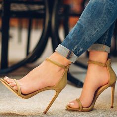 Copper Liliana Strappy High Heel Sandals