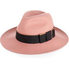 Karl Lagerfeld Wool-felt fedora ($90) ❤ liked on Polyvore featuring accessories, hats, karl lagerfeld, sombreros, шляпы, coral, felt fedora hat, fedora hat, wool fedora and wool fedora hat