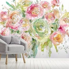 Subtle and stylish, this gorgeous Graceful Bouquet wallpaper mural will totally transform your home. FREE UK delivery within 2 to 4 working days. Lotus Flower Wallpaper, Dandelion Wallpaper, Magnolia Wallpaper, Daisy Wallpaper, Sunflower Wallpaper, Field Wallpaper, Photo Wallpaper, Wall Wallpaper, Floral Rug
