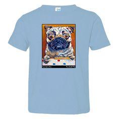 Pug's Game Face: Toddler Jersey Tee