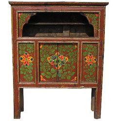 шкаф-khamtibet-19-c-вероятно,--кухня-item кухонный шкаф тибет. роспись по дереву