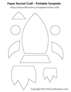 Teach your kids to dream big with the help of a Paper Rocket Craft that'll inspire them to chase their dreams & soar high! - Paper Rocket Craft for Kids + Free Printable Template Printable Crafts, Templates Printable Free, Paper Craft Templates, Free Printables, Box Templates, Blogger Templates, Toddler Crafts, Preschool Crafts, Space Theme Preschool