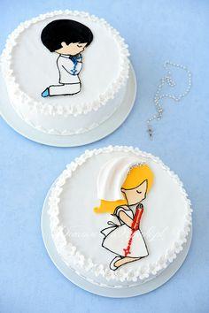 Tort komunijny dla dziewczynki lub chłopca
