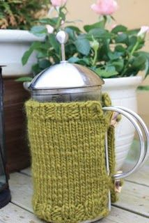 coffee warmer knit. we could use this on some of our camping trips lol