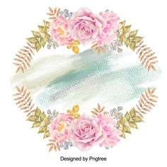 Beautiful hand paint watercolor frame, Watercolor Flower, Flowers, Beautiful Flower PNG and PSD Adobe Photoshop, Watercolor Flower Background, Floral Wreath Watercolor, Arte Floral, Butterfly Frame, Flower Frame, Illustration Blume, Valentines Day Background, Vintage Grunge
