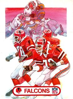 1982 Kelloggs Poster, Atlanta Falcons