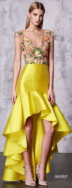 Colors of Spring Couture - Marchesa Notte Resort 2018 detail Fashion 2018, Runway Fashion, High Fashion, Fashion Outfits, Womens Fashion, Fashion Trends, Marchesa Fashion, Floral Fashion, Fashion Design