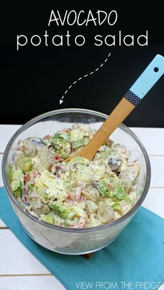 Avocado Potato Salad ... Delicious and Healthy Twist on A Classic