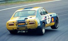 I don't know why the touring cars in the early 70s had such a soft suspension setup, but it looks really fast – 1973 Ford Capri RS 2600