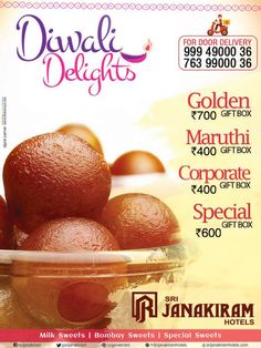 As festival of lights is about to beckon and is all set to lift up the fest with sweets, varieties of sweet box packaged in the glittering gift boxes to delight your friends and neighbours at Srijanakiram Hotels  #sweet #box #gift #fest #diwalisweets #lights #glittering #deepam