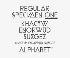 Regular Specimen One: Alphabet