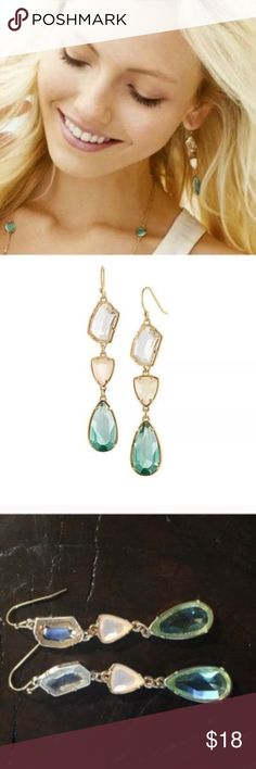 """Blue Crystal Chandelier Earrings Beautiful and elegant Blue Crystal Chandelier Earrings. Great addition to this winter season. The earrings are 3"""" in length.  Host Pick by @nrk90  ❤️Congratulations, your item has been chosen as a host pick for the Best in Jewelry & Accessories party  ❤️ -10/9/17 Jewelry Earrings"""