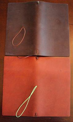 Comparison: Large Brown Midori vs. Large Burnt Cognac Pelle Leather Journal