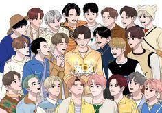 Nct 127, Emoji Stickers Iphone, Photo Collage Template, Korean Boys Ulzzang, Nct Life, Mark Nct, Kpop Fanart, Haikyuu Anime, Cartoon Wallpaper